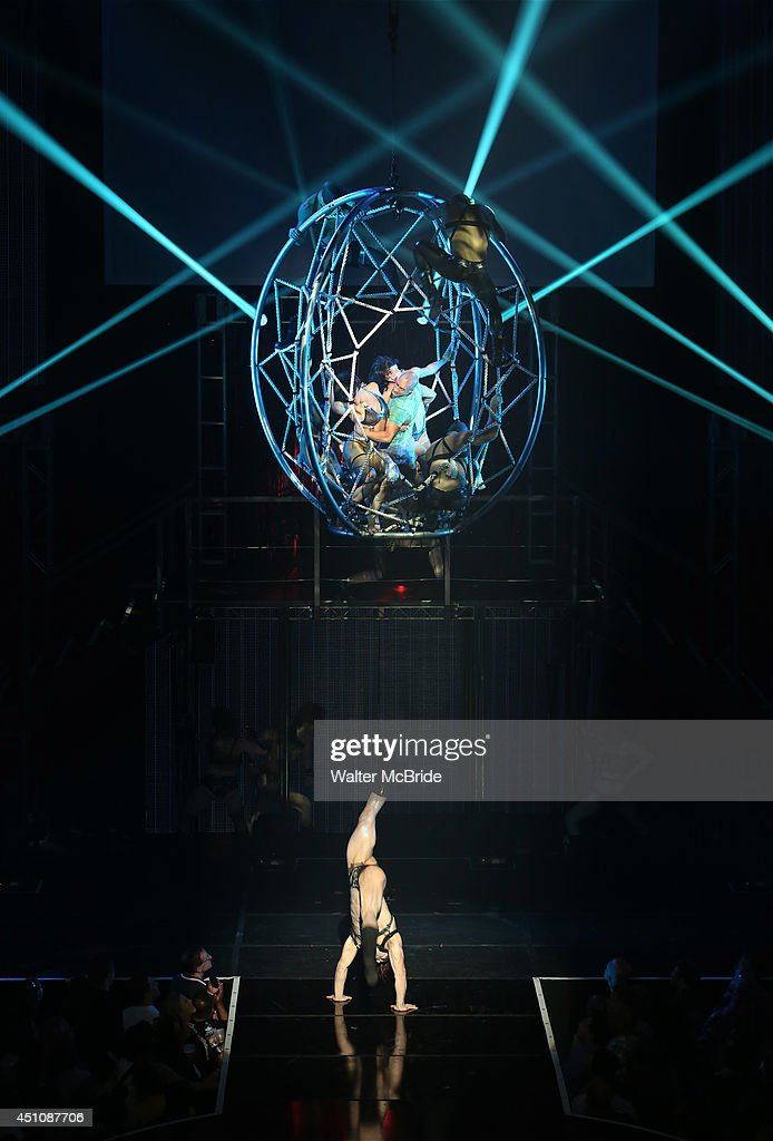 Cast members perform Metallica in Broadway Cares/Equity Fights AIDS' ' Broadway Bares, Rock Hard!' at Hammerstein Ballroom June 22, 2014 in New York City.