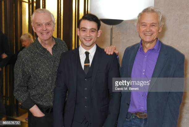 Cast members Philip Franks Jack McMullen and David Yelland attend the press night after party for 'Witness For The Prosecution' at London County Hall...