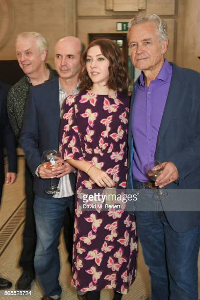 Cast members Philip Franks Richard Attlee Catherine Steadman and David Yelland attend the press night after party for 'Witness For The Prosecution'...