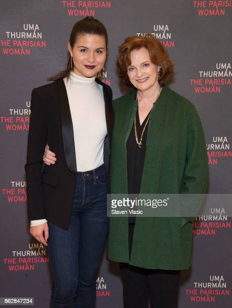 Cast members Phillipa Soo and Blair Brown attend 'The Parisian Woman' Press Meet Greet at The New 42nd Street Studios on October 18 2017 in New York...
