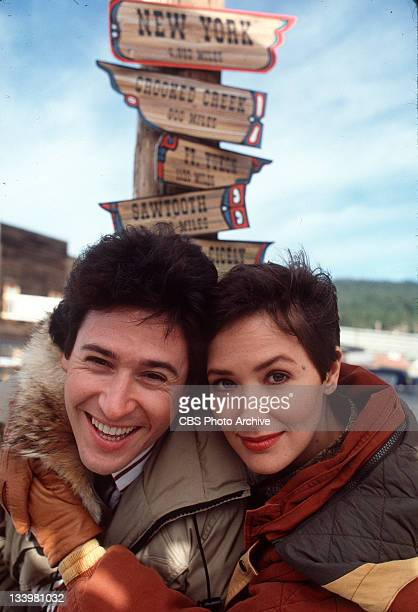 EXPOSURE cast members Rob Morrow as Dr Joel Fleischman and Janine Turner as Maggie O'Connell