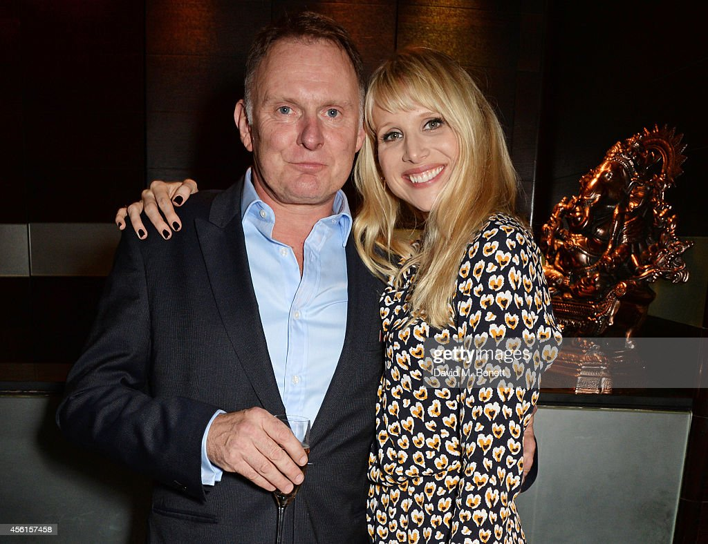 Cast members Robert Glenister (L) and Lucy Punch attend the press night performance of 'Great Britain' following its transfer to the Theatre Royal Haymarket at Mint Leaf on September 26, 2014 in London, England.