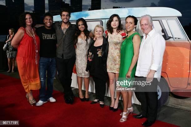 Cast Members Rocky McKenzie Dan Sultan Jessica Mauboy Magda Szubanksi Missy Higgins and Director Rachel Perkins and Producer Graeme Isaac pose during...