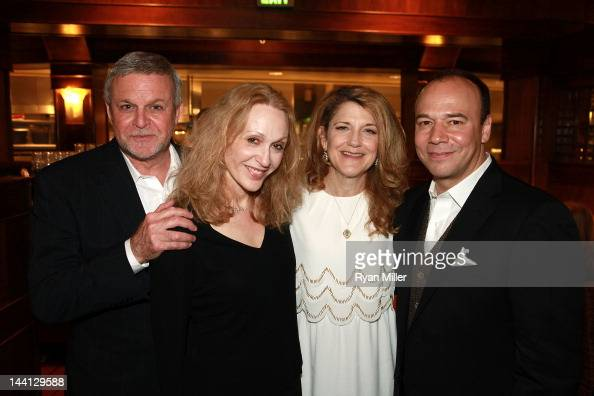 Cast members Ron Raines Jan Maxwell Victoria Clark and Danny Burstein pose during the party for the opening night performance of 'Follies' at Center...