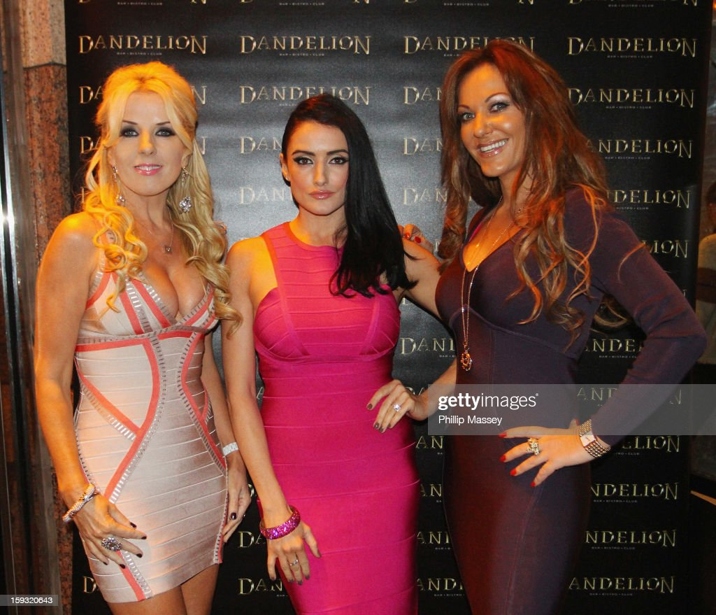 Cast members Roz Flanagan, Virginia Macari and Jo Jordan attend the wrap party for 'Dublin Wives' at Dandelion on January 11, 2013 in Dublin, Ireland.