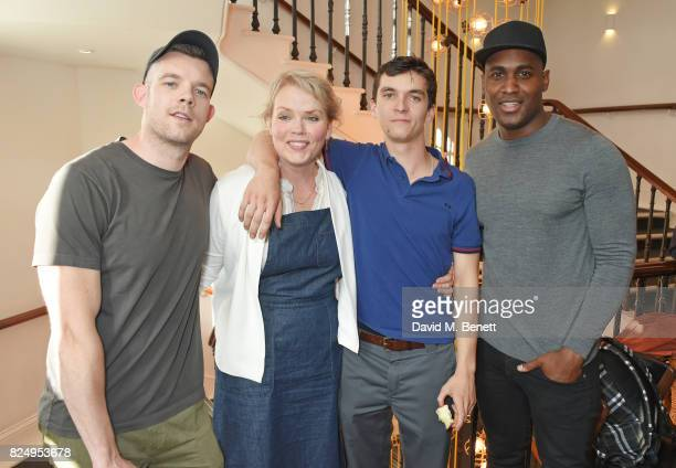 Cast members Russell Tovey Sara Crowe Fionn Whitehead and Kadiff Kirwan attend a performance of 'Queers One Voice Monologues Funded By The TS Eliot...