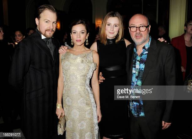 Cast members Samuel West Anna Friel Laura Carmichael and Lindsay Posner attend an after party following thepress night performance of 'Uncle Vanya'...