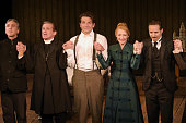 Cast members Scott Lowell Anthony Heald Bradley Cooper Patricia Clarkson and Alessandro Nivola bow at the curtain call during the VIP Gala Preview...