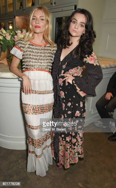 Cast members Sienna Miller and Hayley Squires attend the press night after party for 'Cat On A Hot Tin Roof' at The National Cafe on July 24 2017 in...