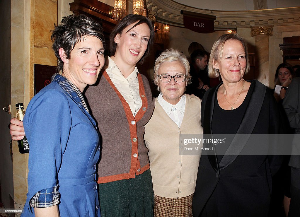 Cast members <a gi-track='captionPersonalityLinkClicked' href=/galleries/search?phrase=Tamsin+Greig&family=editorial&specificpeople=814015 ng-click='$event.stopPropagation()'>Tamsin Greig</a>, <a gi-track='captionPersonalityLinkClicked' href=/galleries/search?phrase=Miranda+Hart&family=editorial&specificpeople=4204375 ng-click='$event.stopPropagation()'>Miranda Hart</a>, <a gi-track='captionPersonalityLinkClicked' href=/galleries/search?phrase=Julie+Walters&family=editorial&specificpeople=206570 ng-click='$event.stopPropagation()'>Julie Walters</a> and director <a gi-track='captionPersonalityLinkClicked' href=/galleries/search?phrase=Phyllida+Lloyd&family=editorial&specificpeople=5420384 ng-click='$event.stopPropagation()'>Phyllida Lloyd</a> pose following the 60th Anniversary Gala performance of Agatha Christie's 'The Mousetrap' at the St. Martin's Theatre on November 18, 2012 in London, England.