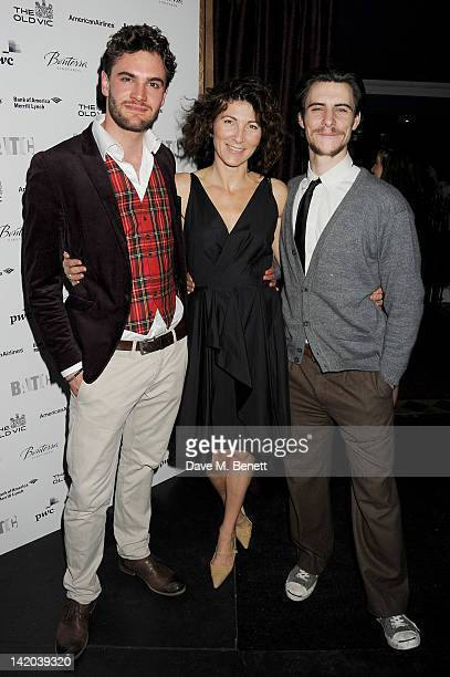 Cast members Tom Bateman Eve Best and Harry Lloyd attend an after party celebrating the press night performance of 'The Duchess of Malfi' at Baltic...