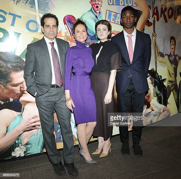 Cast members Tony Shalhoub Diane Lane Gayle Rankin and Mamoudou Athie attend 'The Mystery Of Love Sex' Opening Night at Mitzi E Newhouse Theater on...