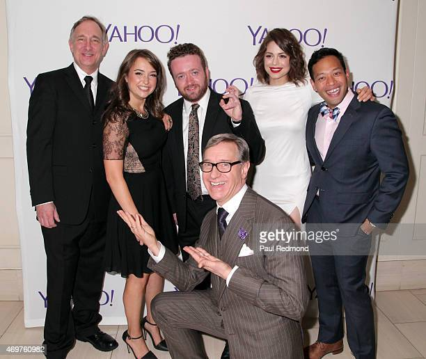 Cast members Trace Beaulieu Milana Vayntrub Neil Casey Conor Leslie Eugene Cordero and executive producer Paul Feig arriving at Paul Feig's new show...
