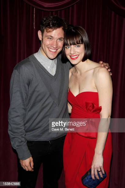 Cast members Will Young and Michelle Ryan attend an after party following the press night performance of 'Cabaret' at Cafe de Paris on October 9 2012...