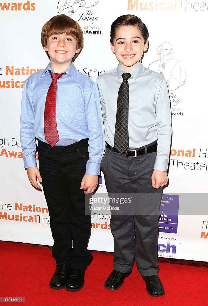 Nicholas Lampiasi, Joshua Colley attends the 5th Annual National High School Musical Theater Awards at Minskoff Theatre on July 1, 2013 in New York City.