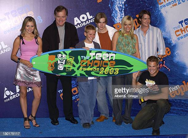 Cast of '7th Heaven' during 2003 Teen Choice Awards Press Room at Universal Amphitheatre in Universal City California United States