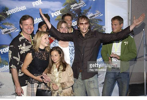 Cast of '7th Heaven' during The 2002 Teen Choice Awards Seventeen Magazine Backstage at Universal Amphitheater in Universal City California United...