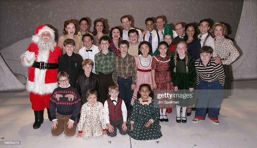 Cast of 'A Christmas Story, The Musical' Broadway Performance at Lunt-Fontanne Theatre on December 12, 2012 in New York City.