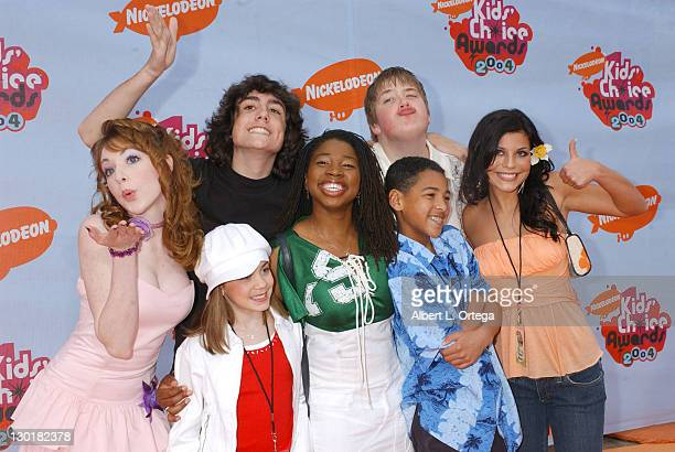 Cast of 'All That' during Nickelodeon's 17th Annual Kids' Choice Awards Arrivals at Pauley Pavillion in Westwood California United States