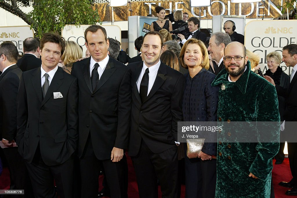 Cast of 'Arrested Development' during The 61st Annual Golden Globe Awards - Arrivals at The Beverly Hilton in Beverly Hills, California, United States.