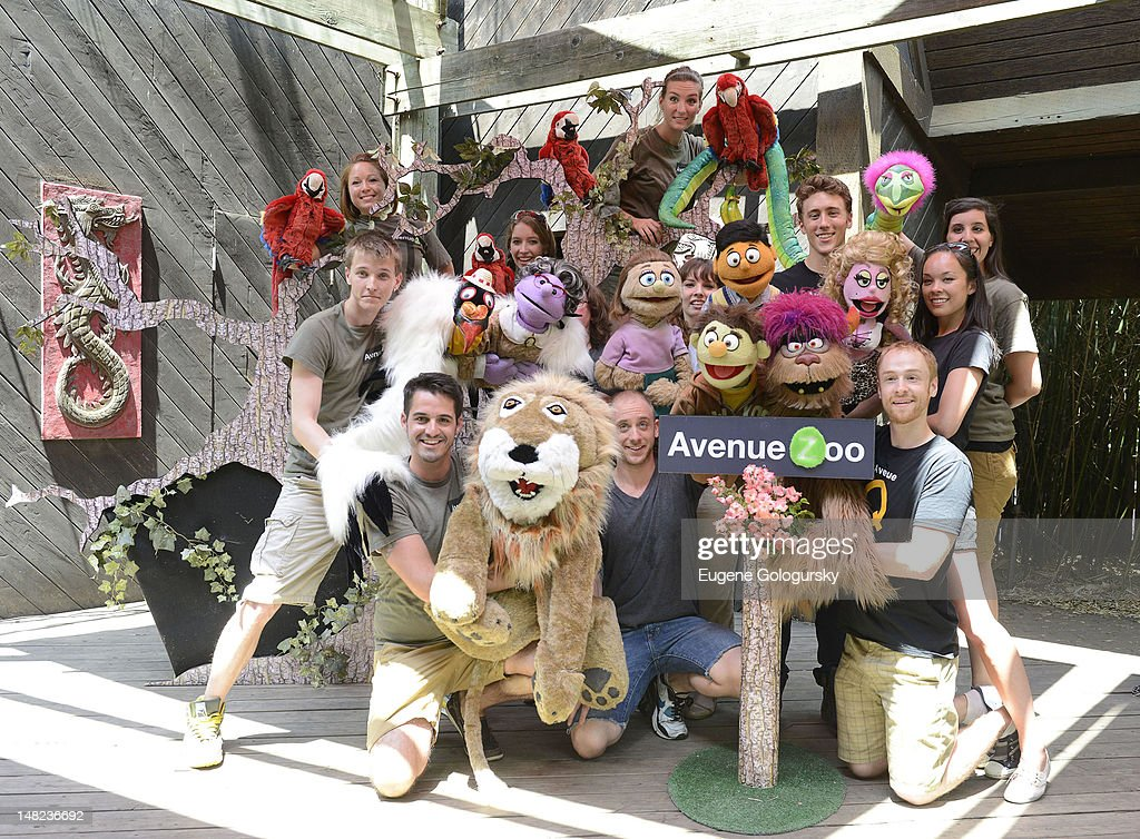 Cast of Avenue Q and Avenue Zoo visit the Bronx Zoo on July 12, 2012 in New York City.