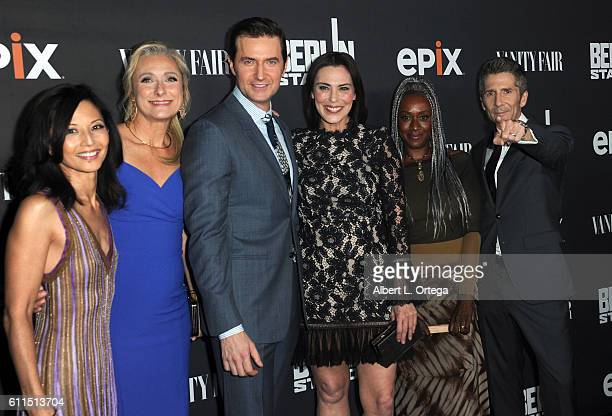 Cast of 'Berlin Station' Actors Tamlyn Tomita Caroline Goodall Richard Armitage Michelle Forbes April Grace and Leland Orser arrives for the Premiere...