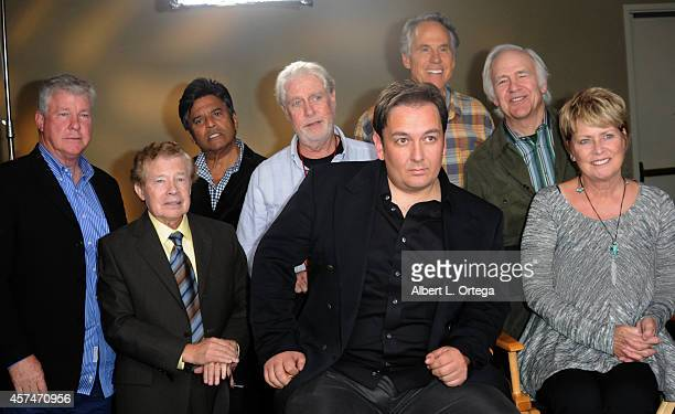Cast of CHiPs Erik Estrada Lou Wagner Paul Linke Larry Wilcox Brodie Greer Robert Prine and Randi Oakes at The Hollywood Show held at Westin LAX...