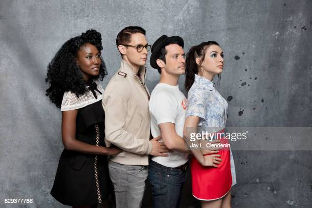 Cast of 'Dirk Gently's Holistic Detective Agency' are photographed in the LA Times photo studio at ComicCon 2017 in San Diego CA on July 22 2017...