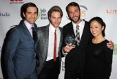 Cast of 'Eastsiders' Best Ensemble in a Drama attends 5th Annual Indie Series Awards held at El Portal Theatre on April 2 2014 in North Hollywood...
