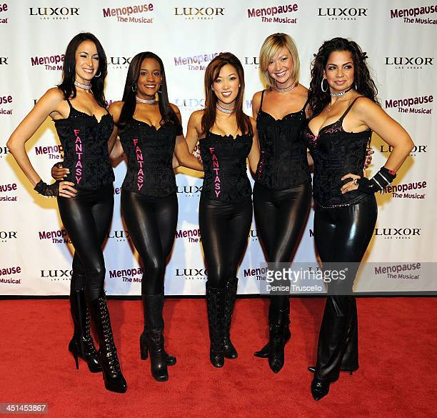 Cast of Fantacy Girls arrives at the premiere of 'Menopause The Musical' at Luxor Hotel and Casino Resort on July 7 2009 in Las Vegas Nevada