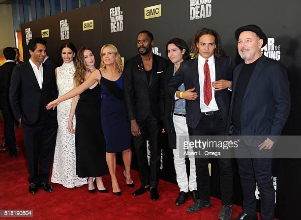 Cast of 'Fear The Walking Dead' Colman Domingo Frank Dillane Ruben Blades Lorenzo James Henrie Cliff Curtis Mercedes Masohn Alycia DebnamCarey Kim...