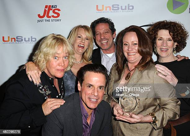 Cast of 'Fumbling Thru The Pieces' Best Ensemble in a Drama attend 5th Annual Indie Series Awards held at El Portal Theatre on April 2 2014 in North...