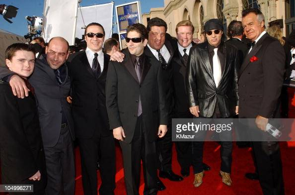 Cast of HBO's 'The Sopranos' during The 8th Annual Screen Actors Guild Awards Arrivals at Shrine Exposition Center in Los Angeles California United...
