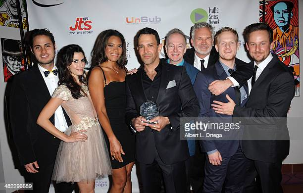 Cast of 'Hustling' Best Webseries for a Drama attend 5th Annual Indie Series Awards held at El Portal Theatre on April 2 2014 in North Hollywood...