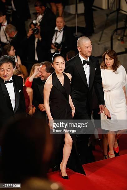 Cast of 'Kishibe No Tabi' actor Tadanobu Asano and actress Eri Fukatsu attend the Premiere of 'Mon Roi' during the 68th annual Cannes Film Festival...