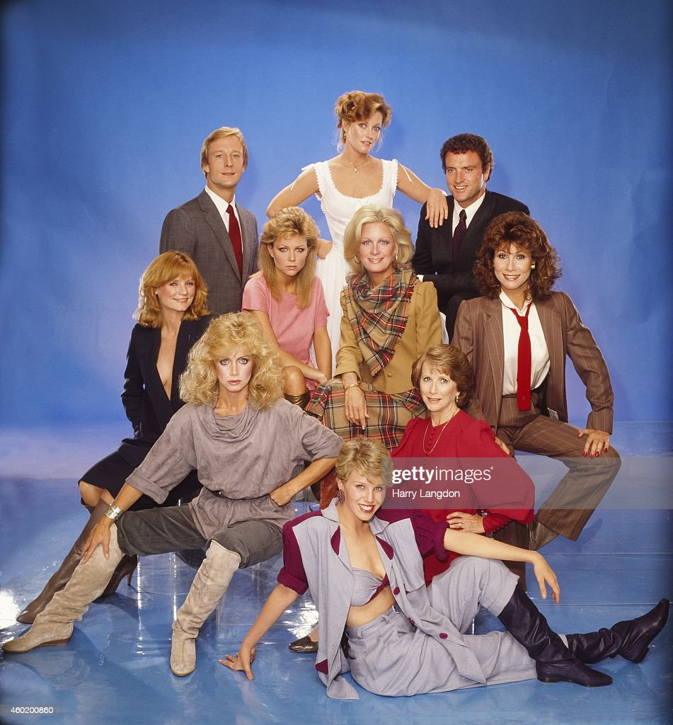 Cast of Knots Landing pose for a portrait in 1982 in Los Angeles, California.