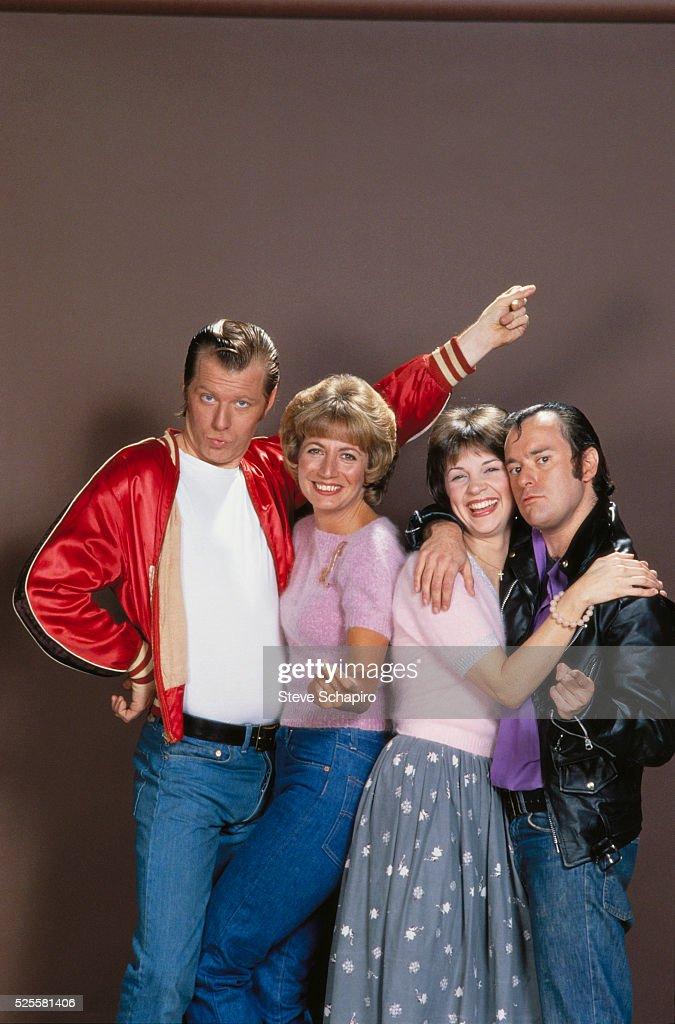 Michael McKean, Penny Marshall, Cindy Williams, and David L. Lander.