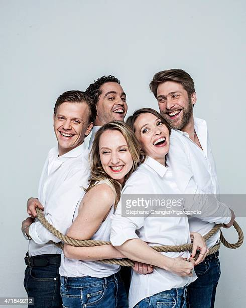 Cast of Le Talent de Mes Amis is photographed for Madame Figaro on March 26 2015 in Paris France PUBLISHED IMAGE CREDIT MUST READ Stephane...