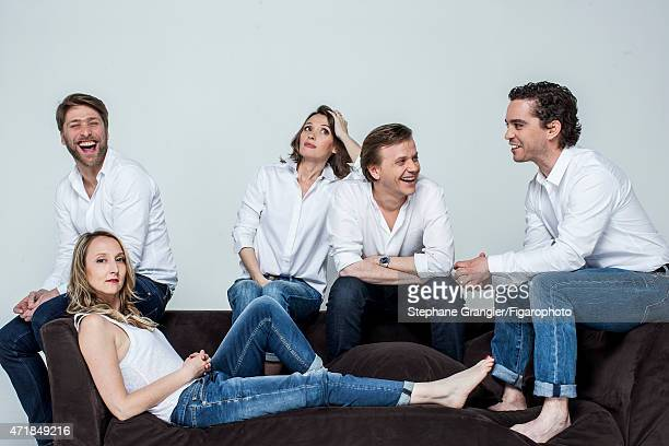 Cast of Le Talent de Mes Amis is photographed for Madame Figaro on March 26 2015 in Paris France CREDIT MUST READ Stephane...