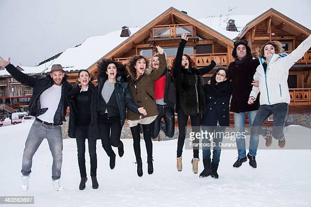 Cast of 'Les Gazelles' Mona Achache Camille Chamoux Audrey Fleurot Naidra Ayadi Josephine de Meaux Franck Gastambide and Samuel Benchetrit attend a...