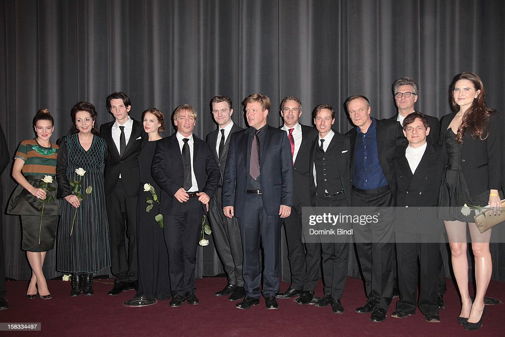 Cast of Ludwig I. attends Ludwig II - Germany Premiere at Mathaeser Filmpalast on December 13, 2012 in Munich, Germany.