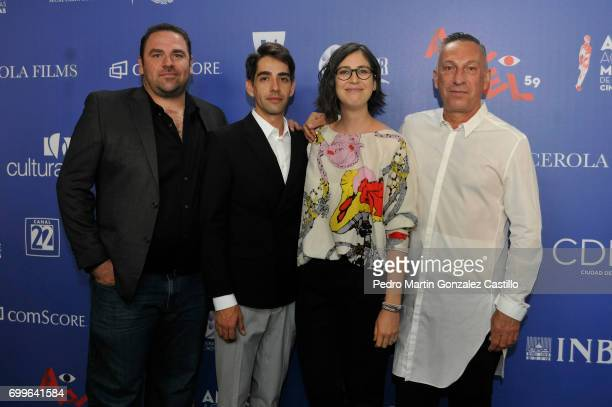 Cast of 'Macho' film pose during the 59th Ariel Awards Nominees Event at Fiesta Americana Hotel on June 21 2017 in Mexico City Mexico