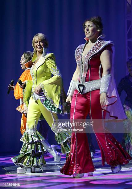 Cast of 'Mamma Mia' during Kids Week In The West End Press launch July 25 2006 at Prince of Wales Theatre in London