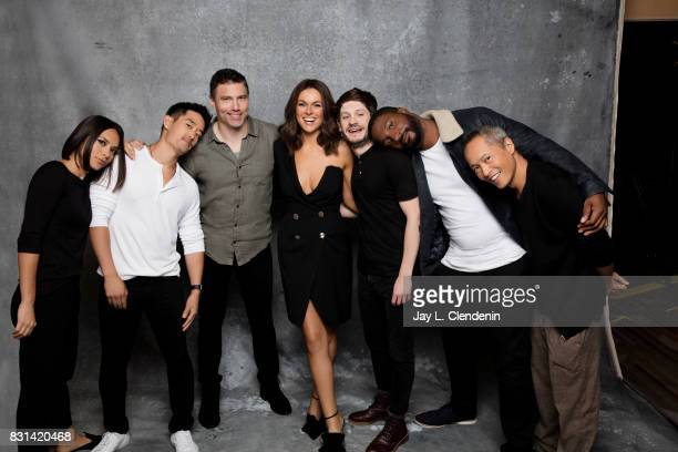 Cast of 'Marvel's The Inhumans' are photographed in the LA Times photo studio at ComicCon 2017 in San Diego CA on July 21 2017 CREDIT MUST READ Jay L...