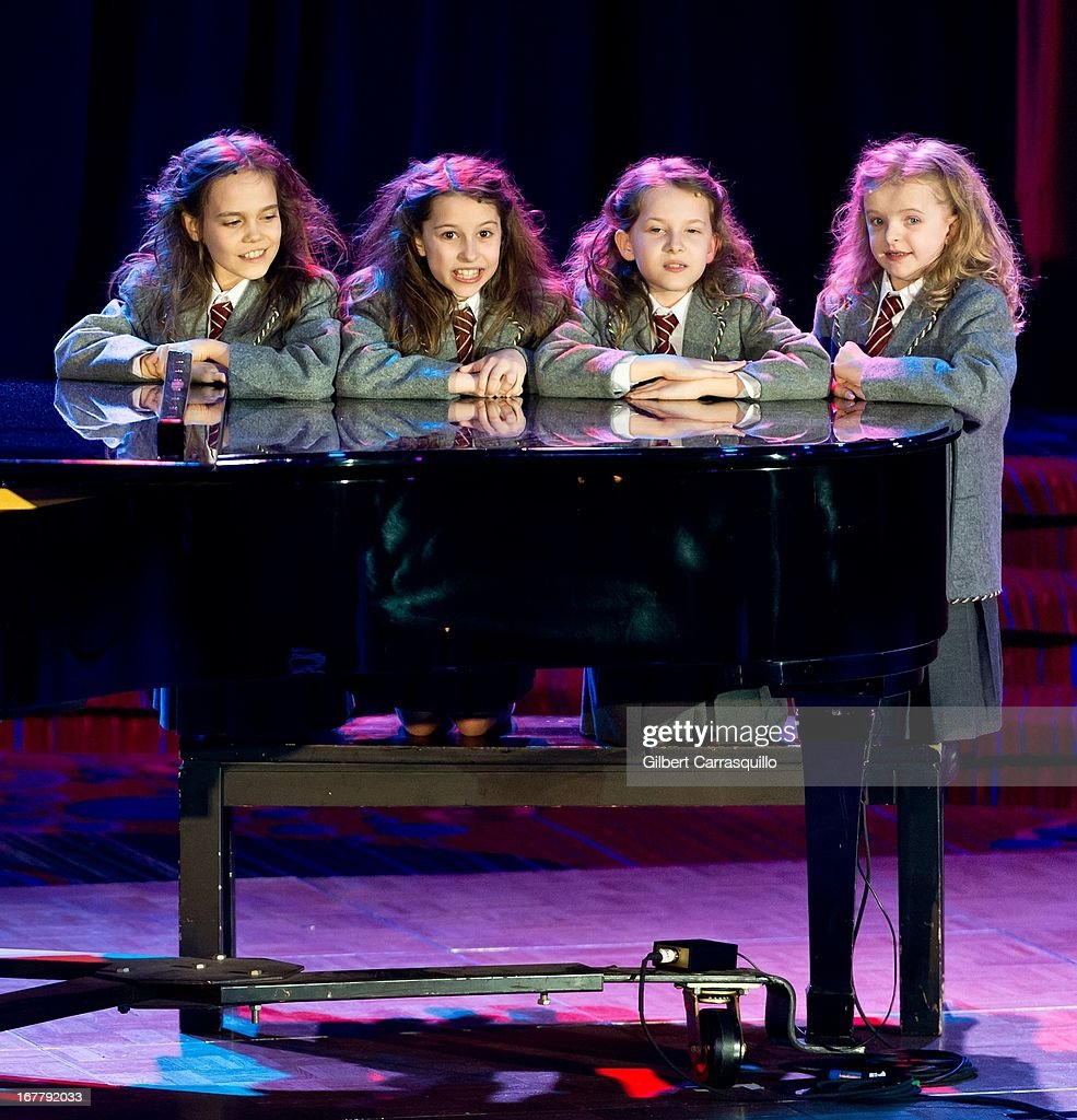 Cast of 'Matilda' performs onstage at the 2013 Actors Fund's Annual Gala Honoring Robert De Niro at The New York Marriott Marquis on April 29, 2013 in New York City.