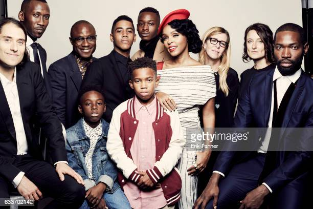 Cast of Moonlight pose for a portrait during the 54th New York Film Festival at Lincoln Center on October 2 2016 in New York City