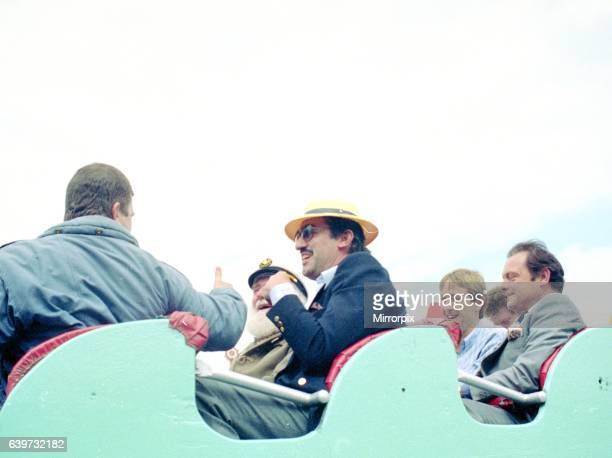 Cast of Only Fools and Horses sitting on rollercoaster ride eopidose The Jolly Boys Outing May 1989 Del Boy Rodney Boycie Boyce Uncle Albert Mike...