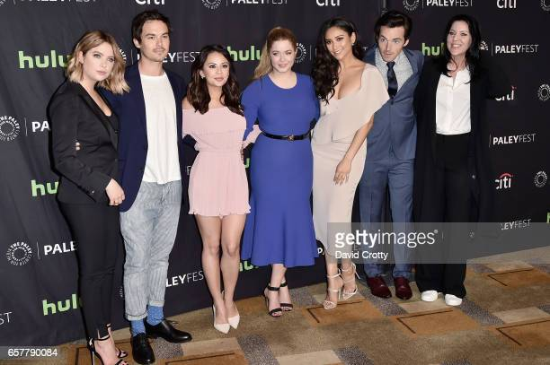 Cast of Pretty Little Liars attends PaleyFest Los Angeles 2017 'Pretty Little Liars' at Dolby Theatre on March 25 2017 in Hollywood California