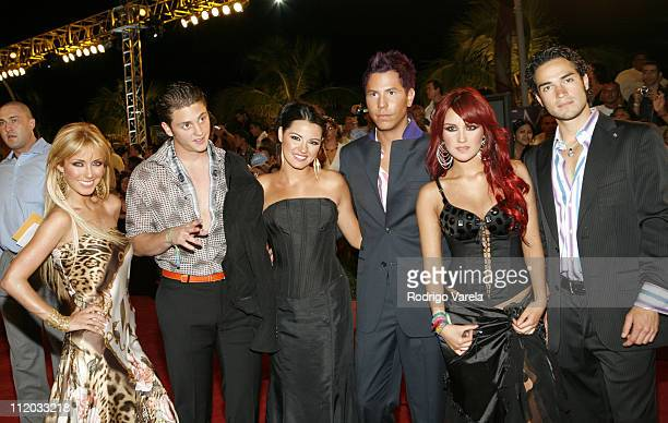 Cast of 'Rebelde RBD' including Anahi Lupita Fernandez and Dulce Maria