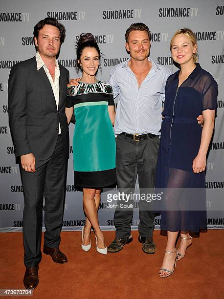 Cast of 'Rectify' actorsÊAden Young Abigail Spencer Clayne Crawford and Adelaide Clemens attend SundanceTV's presentation of Panel Discussions...